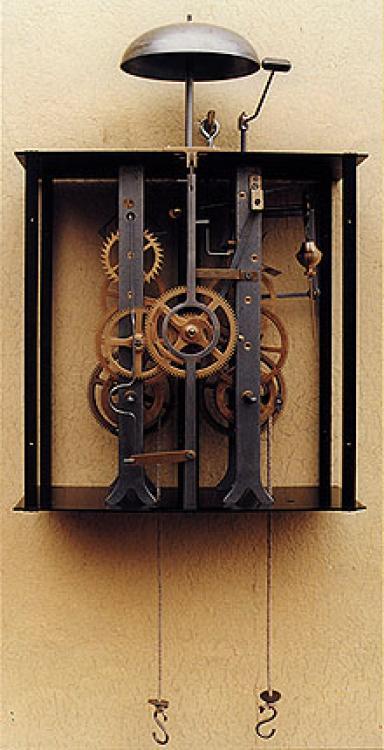 comtoise wanduhr kaufen mit pendel uhrwerk mechanisch antike grossuhr m601ms. Black Bedroom Furniture Sets. Home Design Ideas