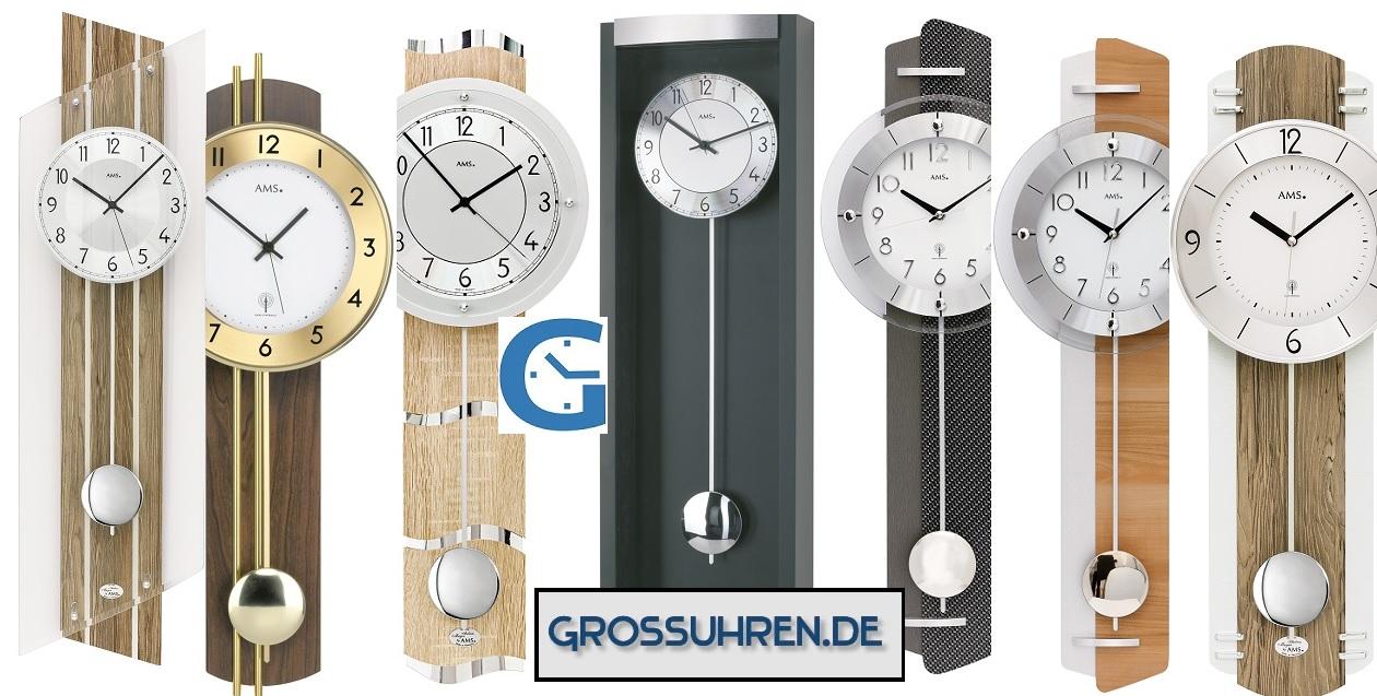 Funk Pendeluhren ➽ AMS Uhren Trend 2019 | Grossuhren.de
