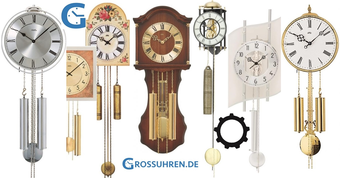 Pendulum clocks: AMS wall clocks with weights online buy