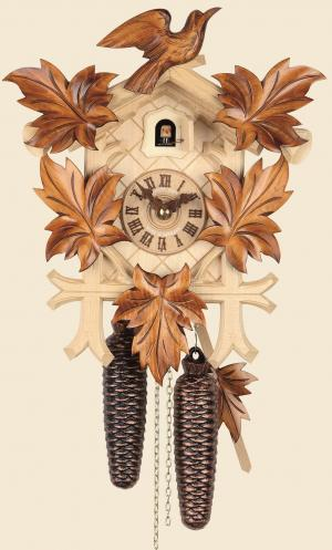 Cuckoo Clock pine two-color light natural 8-day movement as a pine cone weights 114-1-8