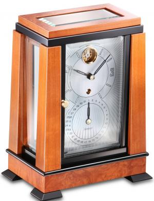 Art Deco Table Clock Kieninger 1272-41-01 cherry finish