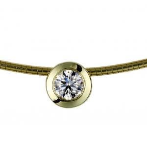 Collier Brillant Anhänger 0,50ct.