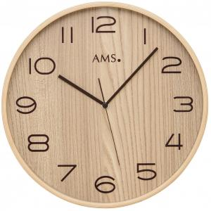 Radio wall clock beech AMS 5514