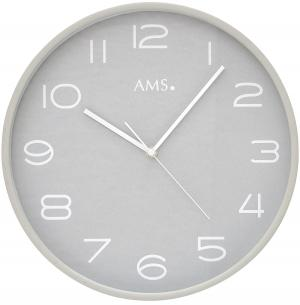 Radio wall clock beech AMS 5521