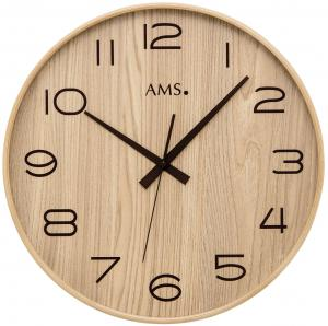 Radio wall clock beech AMS 5522
