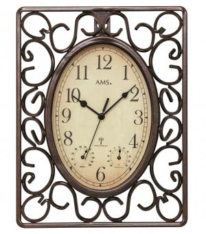 Radio wall clock metal protected in weather 23x31 AMS 5976