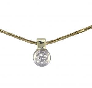Collier Brillant Anhänger 0,10ct
