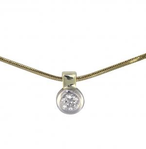 Collier Brillant Anhänger 0,05ct