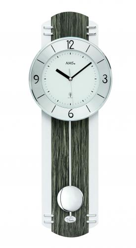 pendulum clock radio controlled wood decoration AMS 5294