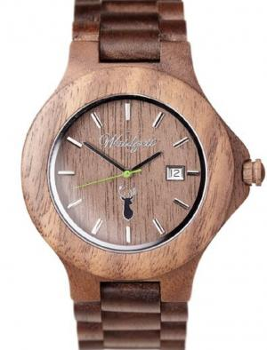 Wooden watch 46 mm Gams premium Waidzeit GA01
