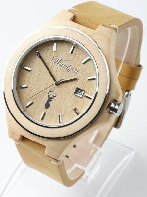 Wooden watch 46 mm Pine Waidzeit ZI01
