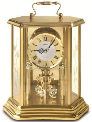 Year clock Haller 25917222 brass